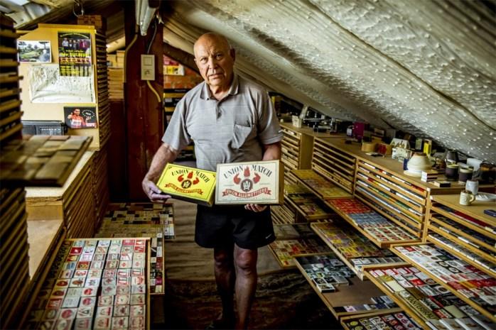 Roger Polders uit Sint-Lambrechts-Herk verzamelt luciferdoosjes uit de hele wereld