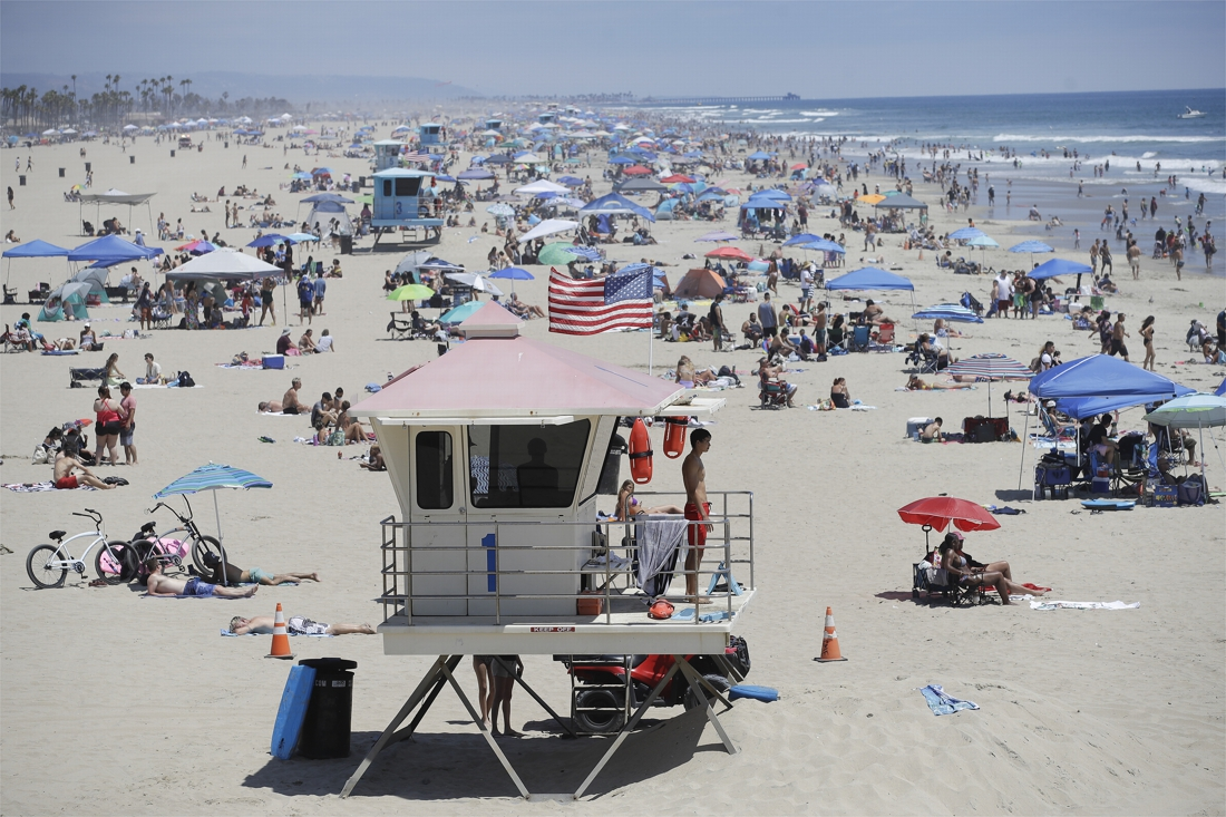 Na explosie cijfers: nationale feestdag, 4th of July met strandverbod in Californië