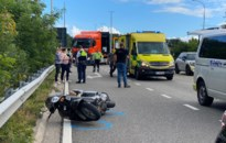 Motorrijder niet in levensgevaar na zware val in Genk