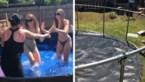 Mama tovert oude trampoline om in zwembad, en het kostte haar amper 40 euro
