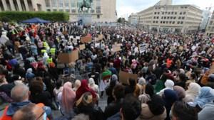Duizendtal manifestanten op betoging tegen hoofddoekenverbod in hoger onderwijs