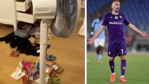 """Franck Ribéry laat beelden zien van ravage na inbraak en zinspeelt op vertrek uit Italië: """"Hoe kan ik me hier nog veilig voelen?"""""""