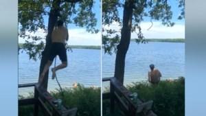 Man voelt zich Tarzan, maar dan breekt touwenschommel halfweg