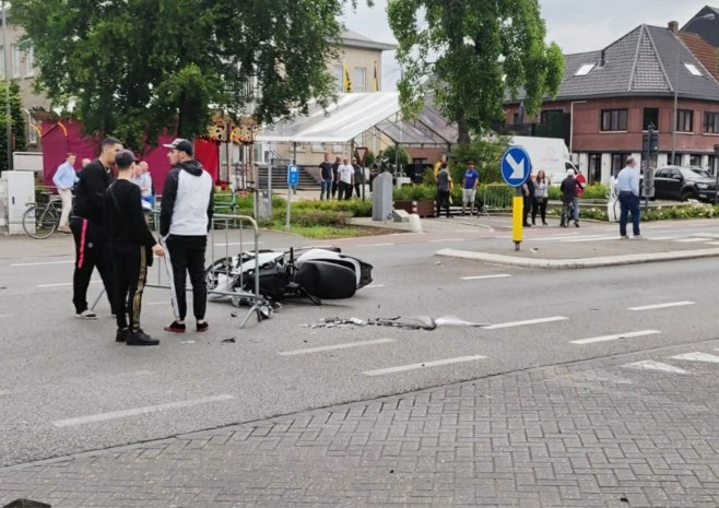 Ongeval met motorfiets in Neeroeteren