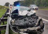 Auto crasht achterop rijdende vrachtwagen: bestuurder ongedeerd