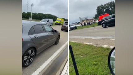 Scooter in kanaal in Beringen: vader en zoon kunnen net duik in water vermijden