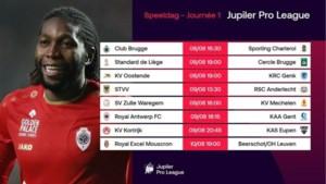 KRC Genk start uit tegen KV Oostende, STVV ontvangt Anderlecht