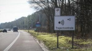 Amper 1 op de 4 trajectcontroles in Vlaanderen werkt
