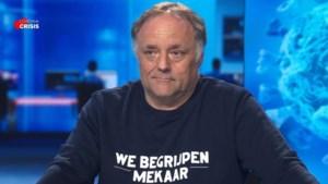 """Voor één keer geen V-halstrui voor Marc Van Ranst: """"Om de cultuursector te steunen"""""""