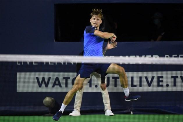 Geen finale voor David Goffin in Ultimate Tennis Showdown