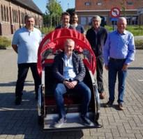 Rotary Zonhoven schenkt eerste riksja-fiets aan 'Fietsen zonder leeftijd'