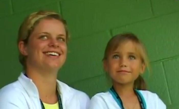 Kim Clijsters speelt vanavond tegen winnares Australian Open die ze als klein meisje inspireerde met unieke ontmoeting