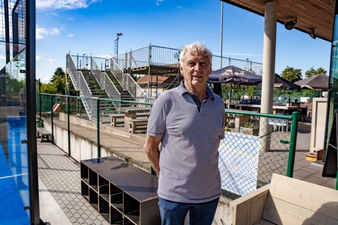 Creatief in coronatijden: Tennis Heusden bouwt terras van vier meter hoog