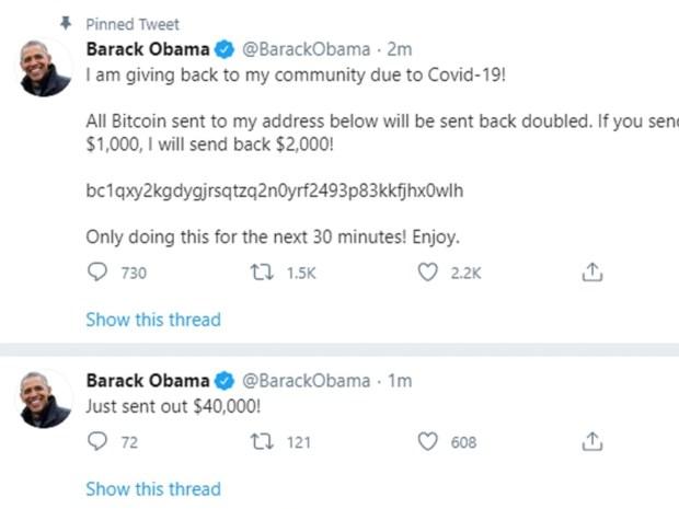 Twitteraccounts prominenten en bedrijven gehackt: Obama, Musk en Apple vragen om bitcoins