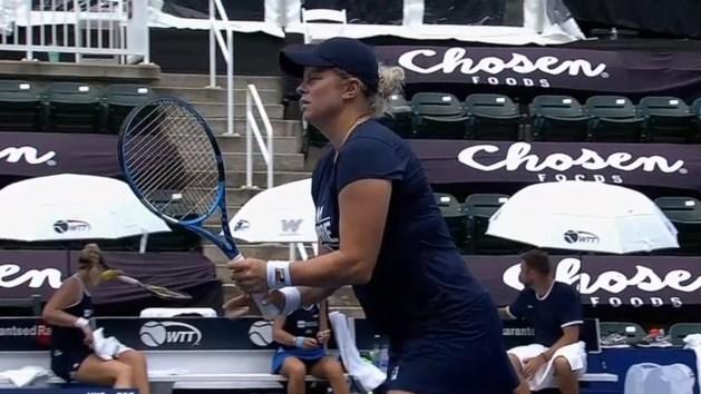 Ook ex-US Open-winnares Sloane Stephens kan Clijsters niet afstoppen in de VS