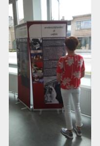 Bannertentoonstelling woonwagenbewonerserfgoed in de bib