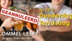 Lommel neemt geen risico's: Donderdag Terrasdag gaat niet door