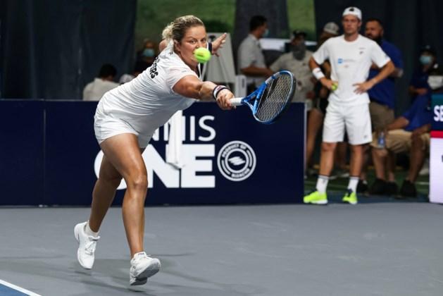 Kim Clijsters wint haar vijfde wedstrijd op rij