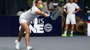 Kim Clijsters wordt verkozen tot 'Player of the Match' en wint drie duels op één dag