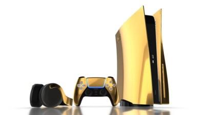 Voor gamers die geld te veel hebben: een PlayStation 5 van 24 karaat goud