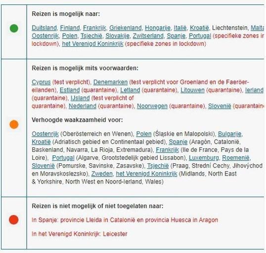 Buitenlandse Zaken kleurt nu ook Noorwegen en Slovenië oranje