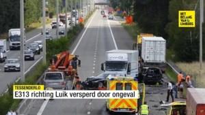 File op de E313 in Tessenderlo na zware kop-staartbotsing: verkeer wordt omgeleid