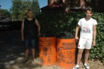 Dieven stelen houweel en mijnlamp van tonnen in Eisden Tuinwijk