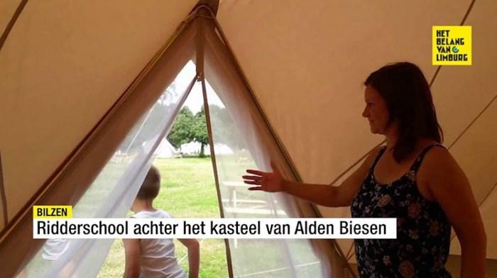 Ridderschool achter het kasteel van Alden Biesen