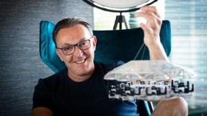 Coronaproof vijfgangenmenu boven Alden Biesen met 'Dinner in the sky 2.0'