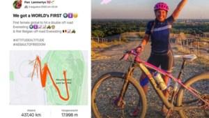"""Belgische Fien Lammertyn pakt waanzinnig wereldrecord in loden hitte door 301 keer (!) steile klim op te fietsen: """"Voel me goed"""""""