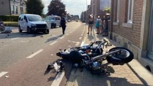 Motorrijder gewond bij zware klap in Veldwezelt