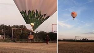 Spectaculaire beelden: luchtballon kan maar net ontsnappen aan aanstormende trein