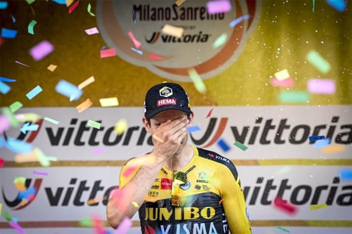 """Wout van Aert na zijn heroïsche zege in Milaan-Sanremo: """"Ik ken mijn limieten niet"""""""