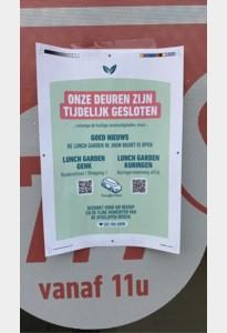 Lunch Garden Hasselt tijdelijk gesloten wegens coronacrisis