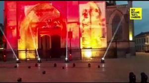 Van Ethias Arena tot basiliek: Limburgse cultuur kleurt rood tijdens internationale protestactie