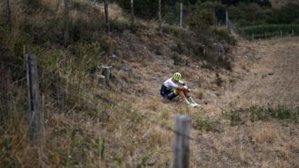 """Opgave Quinten Hermans na val in Dauphiné: """"Hij reed recht de prikkeldraad in"""""""
