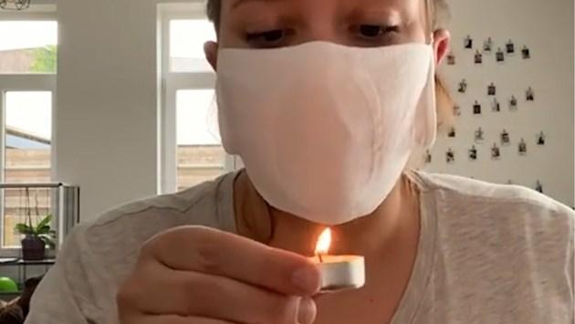 Limburgse toont hoe je kan testen of je mondmasker voldoende bescherming biedt