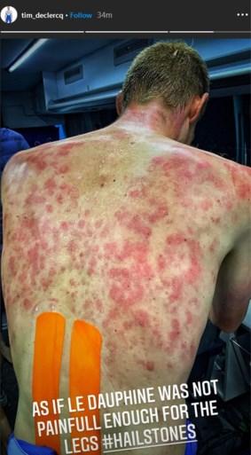 Renners in de Dauphiné moeten schuilen voor helse onweersbui op slotklim