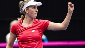 Elise Mertens mag zich opmaken voor halve finale in Praag na winst tegen Eugenie Bouchard