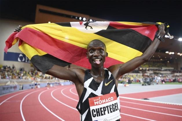 Joshua Cheptegei verbetert wereldrecord van Kenenisa Bekele op de 5.000 meter tijdens Diamond League in Monaco