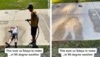 Is dit de strafste stop-motion-video ooit? Man maakt gebruik van hitte om 'baskettende schaduw' te maken