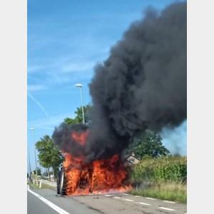Tractor vat vuur op 't Hasseltkiezel
