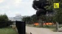 Brand in perenplantage in Kortessem zorgt voor grote rookwolk