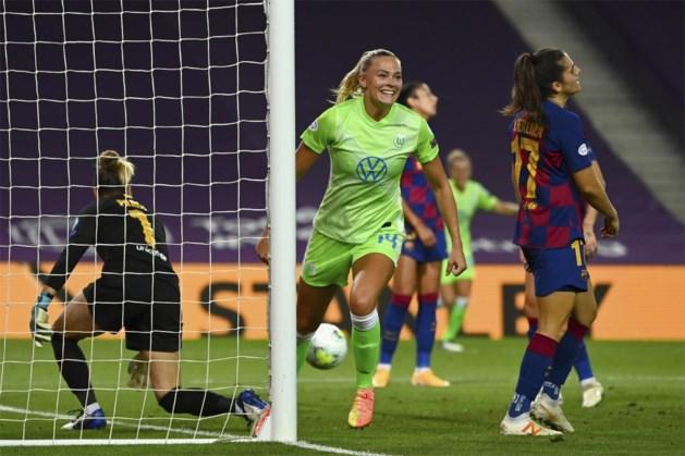Vrouwen van Wolfsburg plaatst zich ten koste van Barcelona voor Champions League-finale