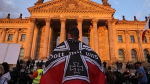 Fanatieke Reichsbürger lopen voorop in Duits coronaprotest