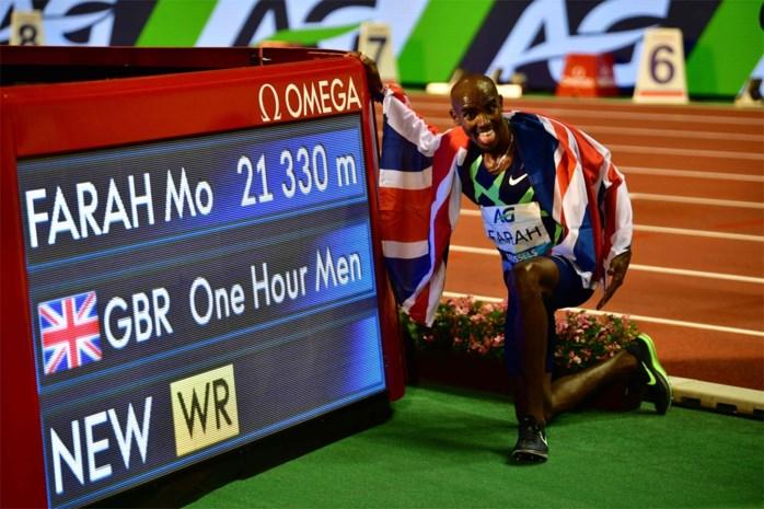 Mo Farah verbetert werelduurrecord, Bashir Abdi is nieuwe Belgisch recordhouder