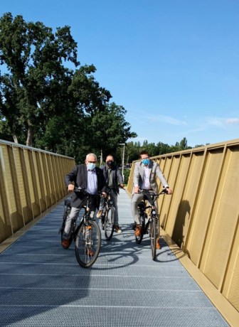 Stadsbestuur Beringen fietst gloednieuwe kolenspoorbrug in!