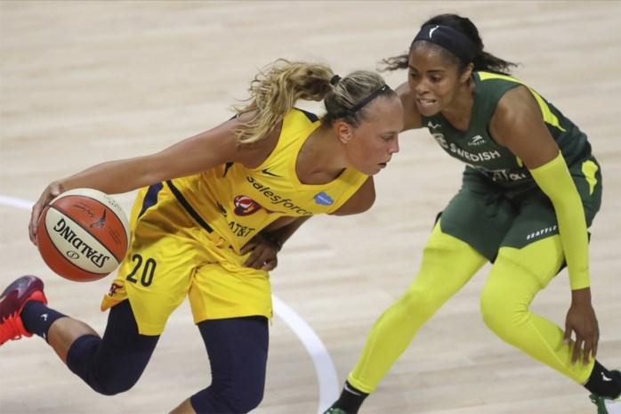 Julie Allemand blijft bij Indiana schitteren in WNBA en verrast leider Seattle