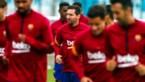 Lionel Messi herneemt de groepstrainingen bij Barca