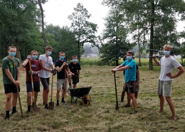 Jins Scouts & Gidsen Tervant bieden hulp aan